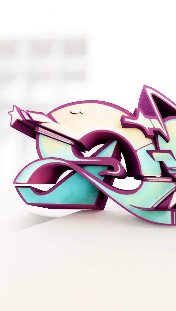 Graffiti Sculpture Does Does Urban Culture Art Collection 3D Printed Designer