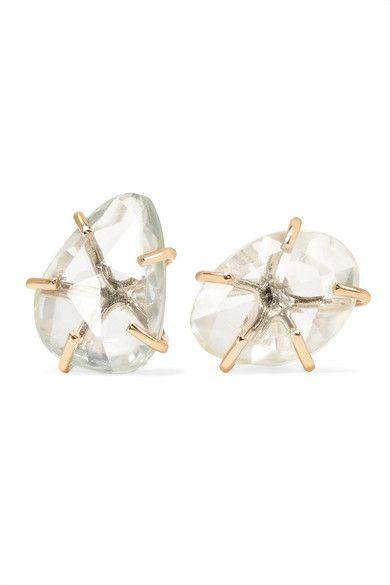 Melissa Joy Manning 14-karat Gold Spinel Earrings HYF6Z80P