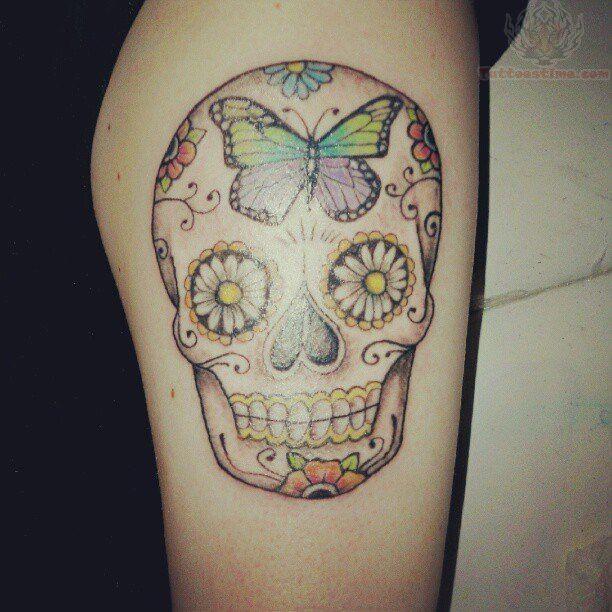 Sugar Skull Butterfly Tattoo Sugar Skull Tattoos Butterfly Tattoo Tattoos