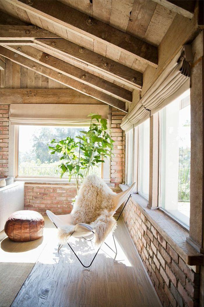 La Poutre En Bois Dans 50 Photos Magnifiques Living Room