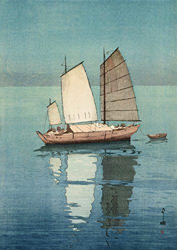 "Japanese Art Print ""Sailing Boats, Afternoon"" by Yoshida Hiroshi. Shin Hanga and Art Reproductions http://www.amazon.com/dp/B00VCFS6U8/ref=cm_sw_r_pi_dp_03Svwb0YF5WMN"