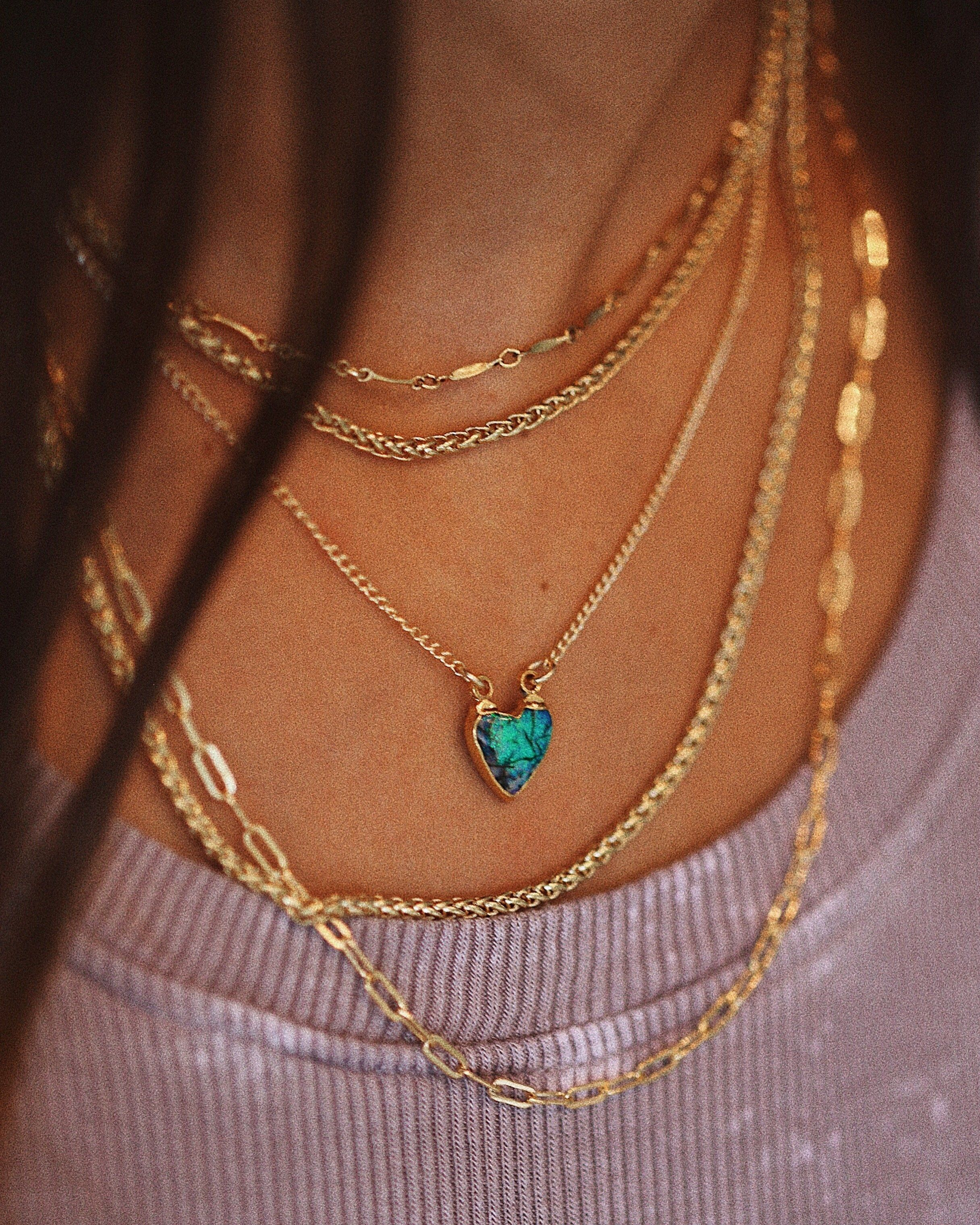 Gold chain necklace elongated manar pinterest joyerías y ropa