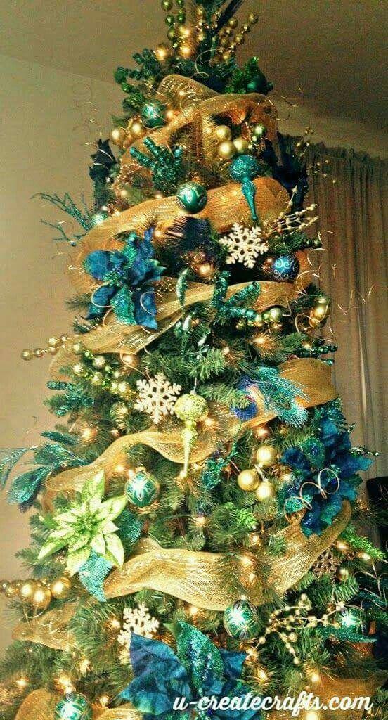 Pin by Wanda Skeens on Christmas trees Pinterest Christmas tree - peacock christmas decorations
