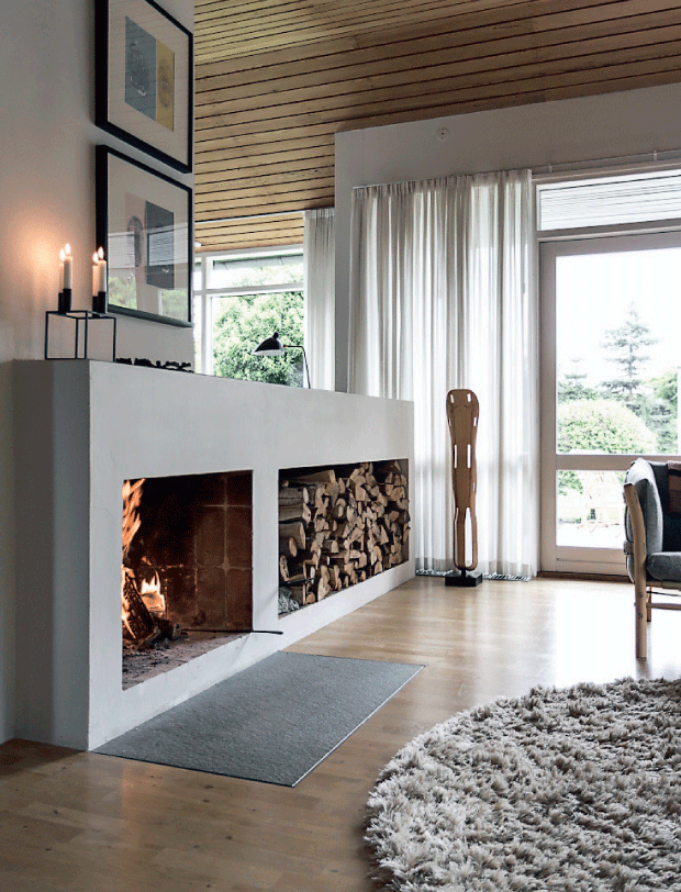 A Comfy Home With Design Classics 8 Home Fireplace Fireplace