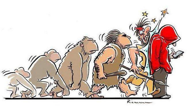 17 Ilustrações satíricas questionando se realmente houve uma evolução