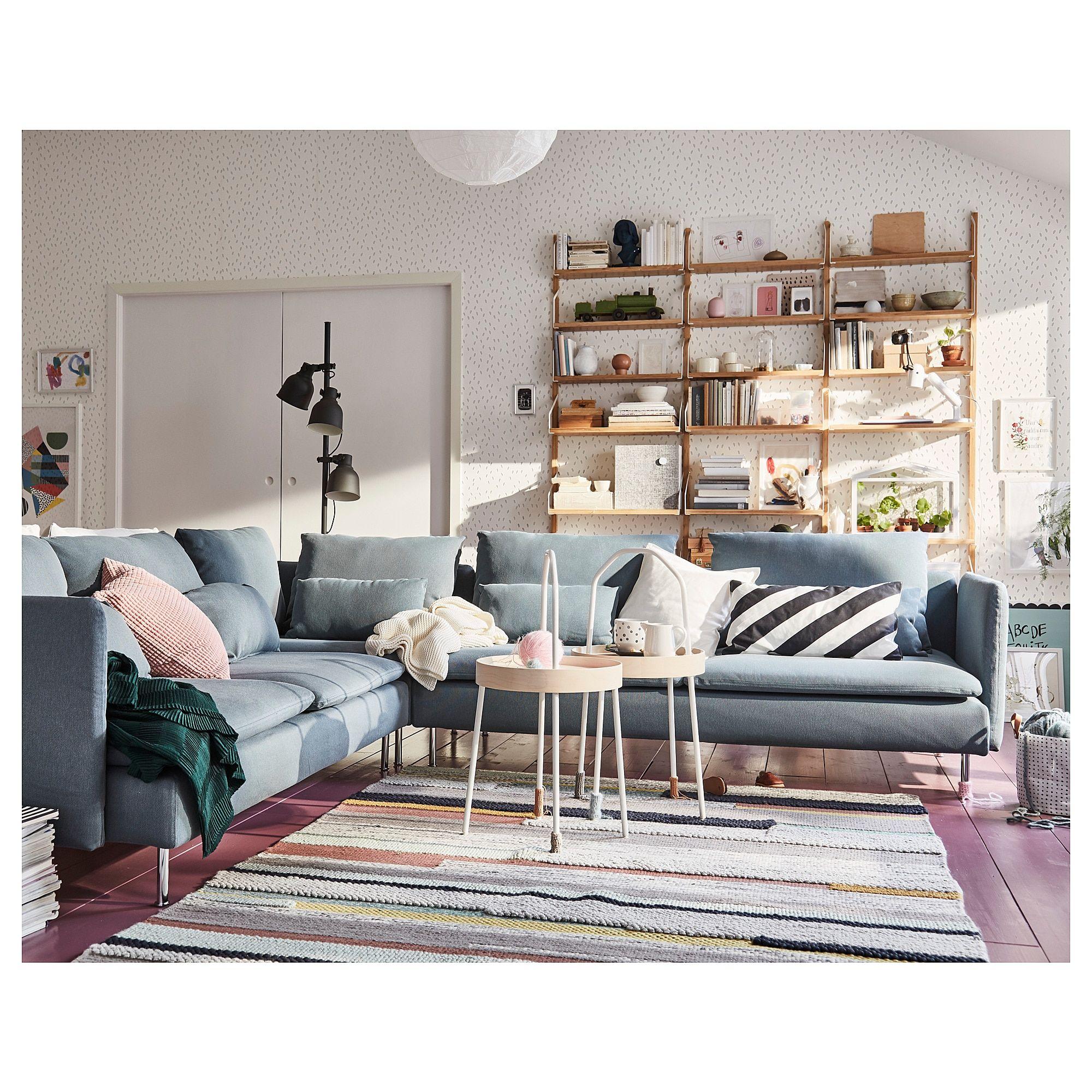 Soderhamn Sectional 5 Seat Finnsta Turquoise Ikea Small Room Design Turquoise Living Room Decor Living Room Interior