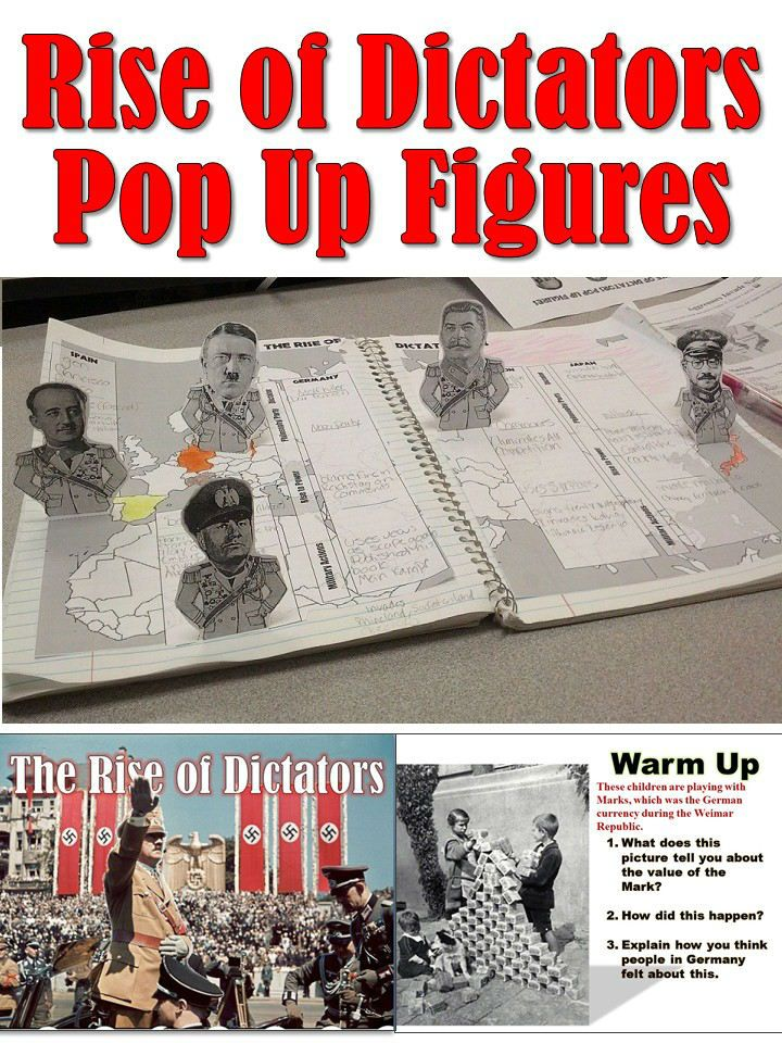 world war 2 dictators pop up figures lesson plan pinterest historia. Black Bedroom Furniture Sets. Home Design Ideas