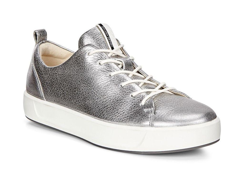 ECCO Womens Soft 8 Sneaker (ALUSILVER