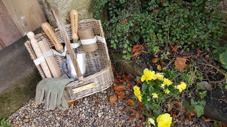 Delight your garden lover personalised 9 piece garden trug