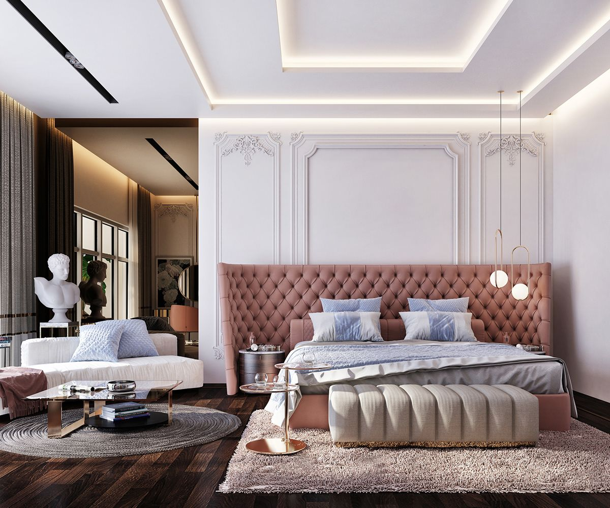 Bedroom In Contemporary Style On Behance: Luxury Master Bedroom .. On Behance