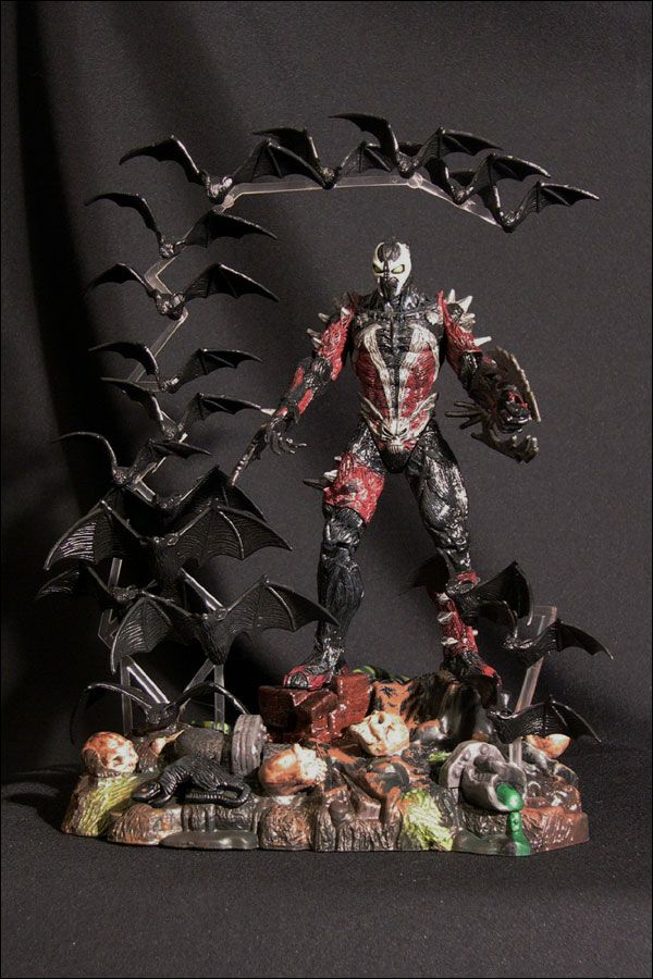 spawn the movie january 1998 spiked spawn in display case spawn mcfarlane action figures. Black Bedroom Furniture Sets. Home Design Ideas
