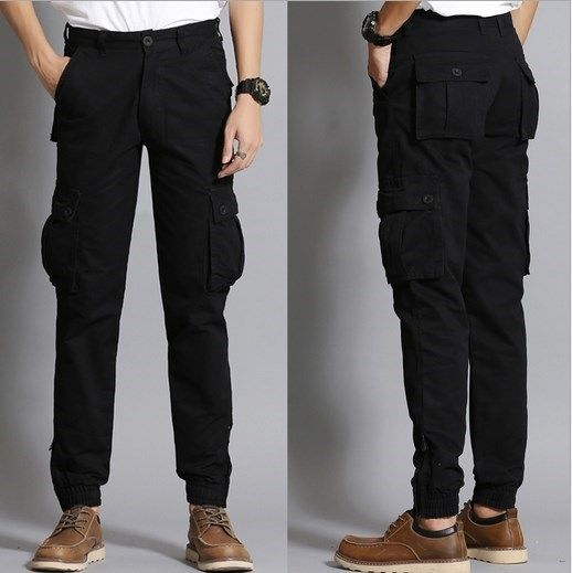 9375533fcad6 Fashion Cargo Pants Men Loose Baggy Trousers Men s Sweat Trousers Casual Clothing  Male Overalls Mens Pants Black Khaki Blue