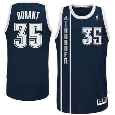 Mens Oklahoma City Thunder Kevin Durant adidas Navy Blue