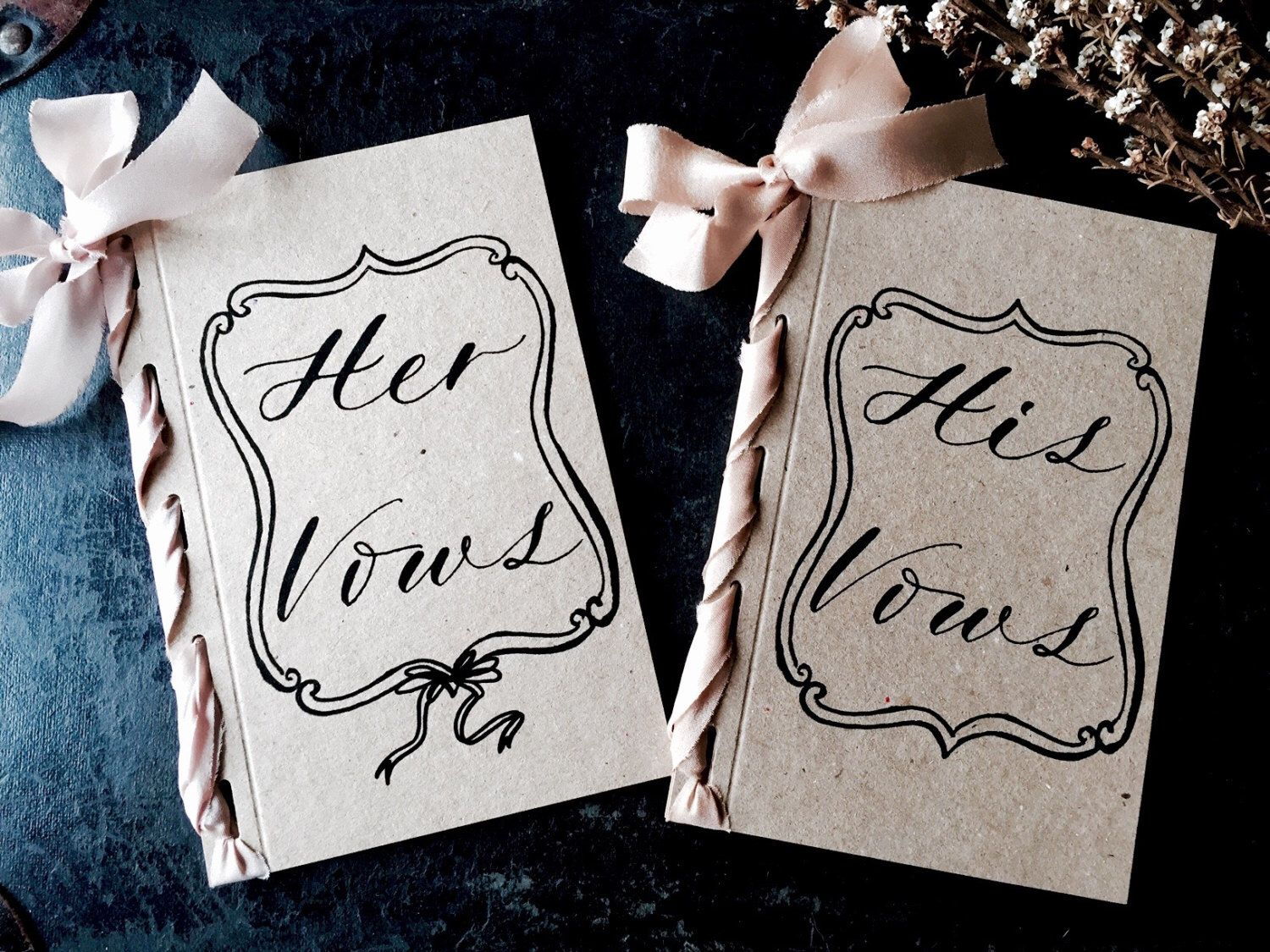 Leslie wedding vow booklets and printed vows by lapommeetlapipe on