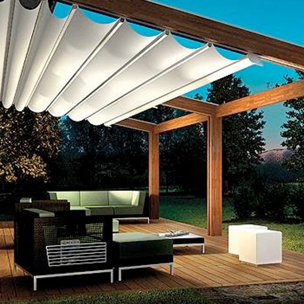 Custom Retractable Awning Awning Backyard Pergola