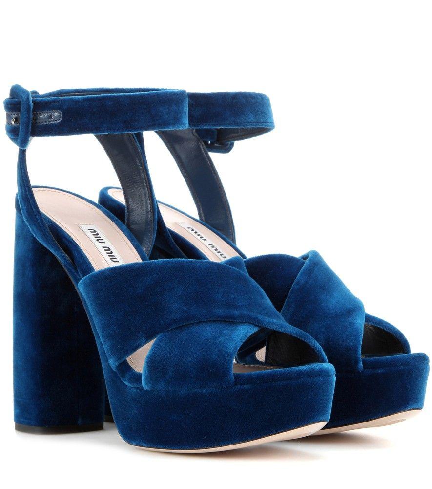 Miu Miu - Velvet platform sandals