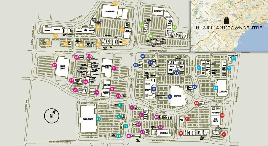 Heartland Town Centre shopping plan Outlet mall, Outdoor