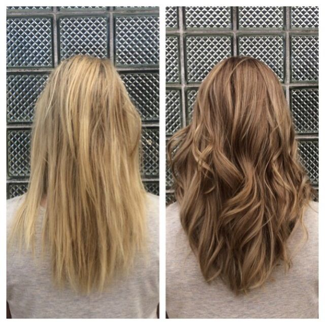 Sandy blonde, highlights, medium blonde