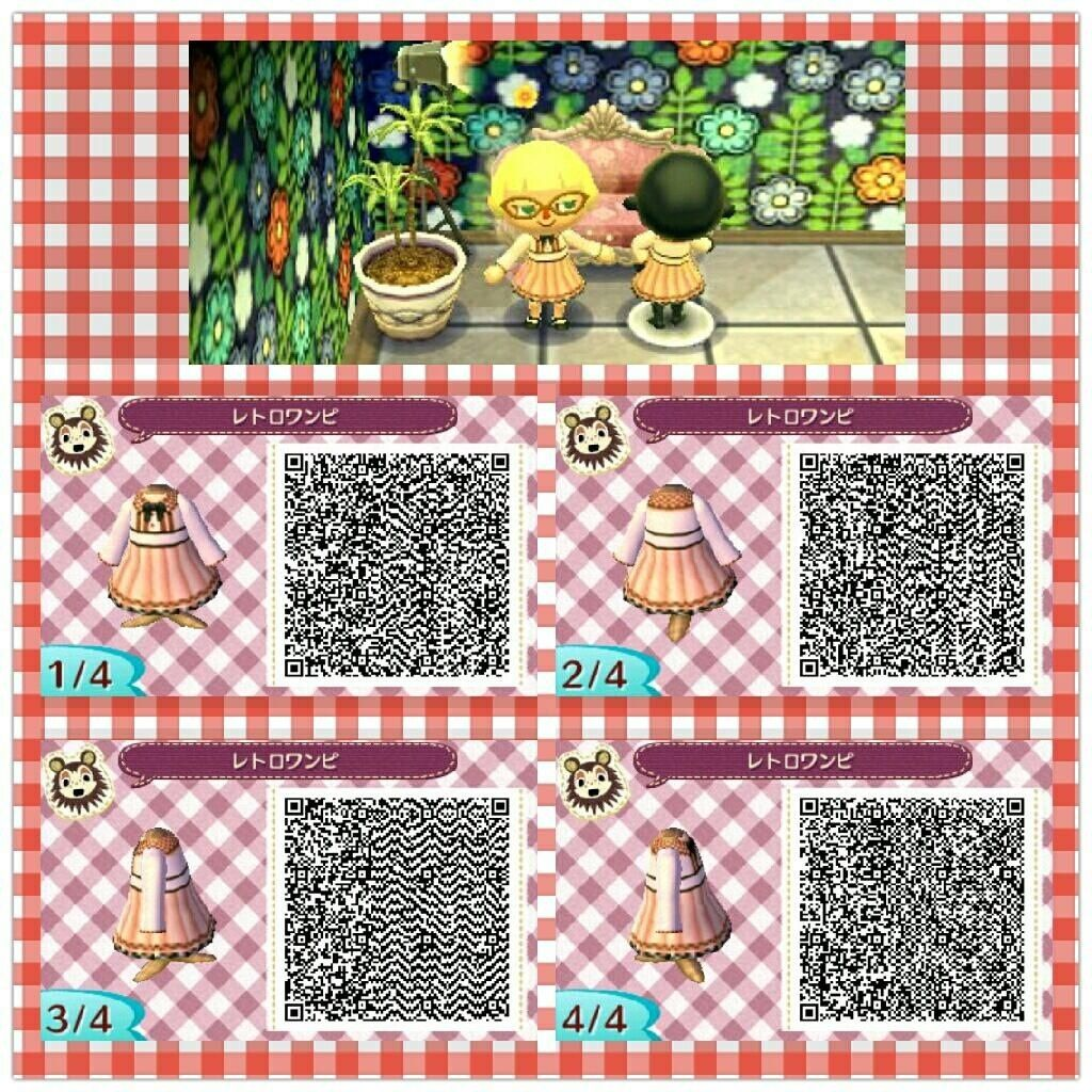 Pink And Brown Dress Animal Crossing Qr Animal Crossing