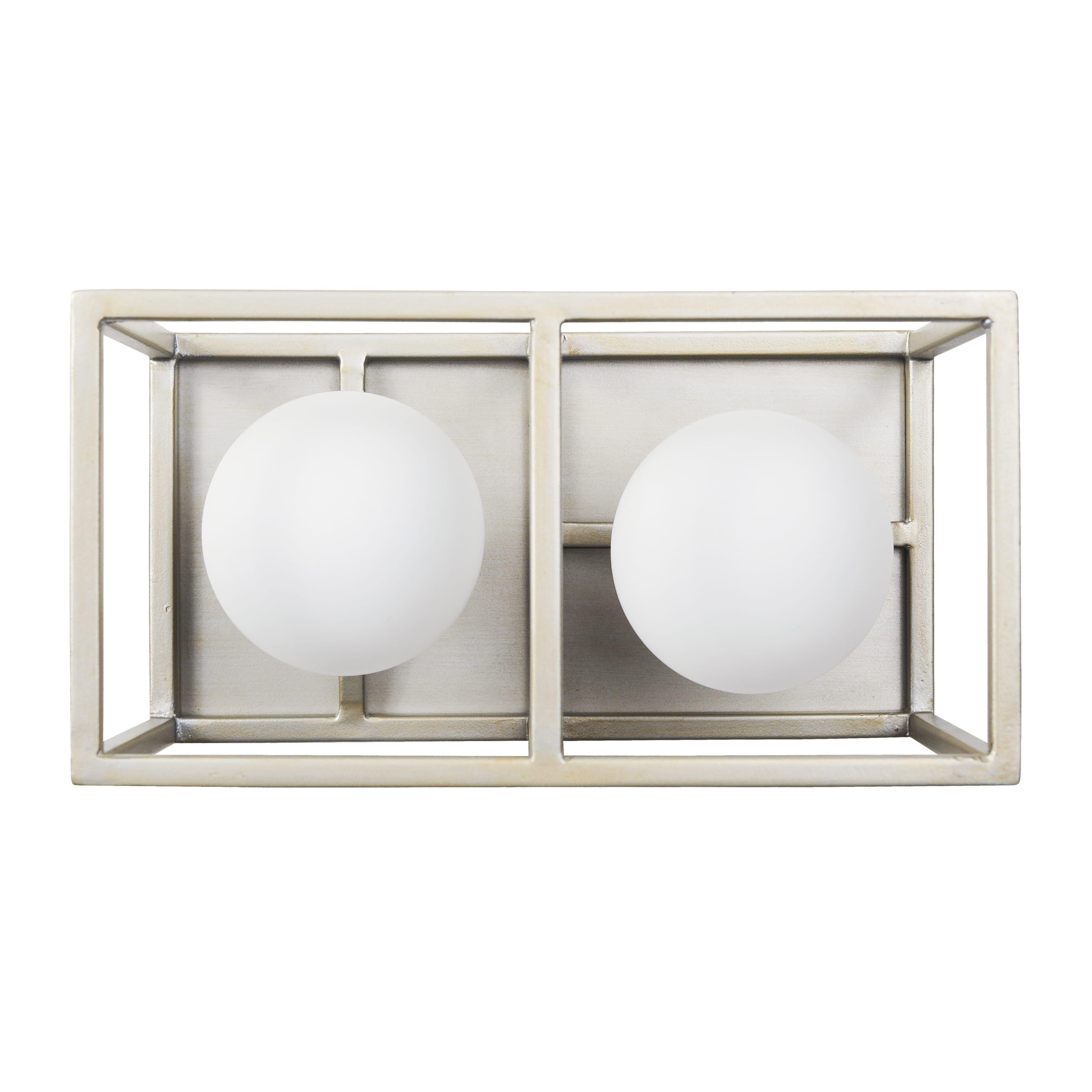 "Photo of Varaluz Plaza 2-Light 5 ""bathroom wash basin lamp in Silverado with carbon"