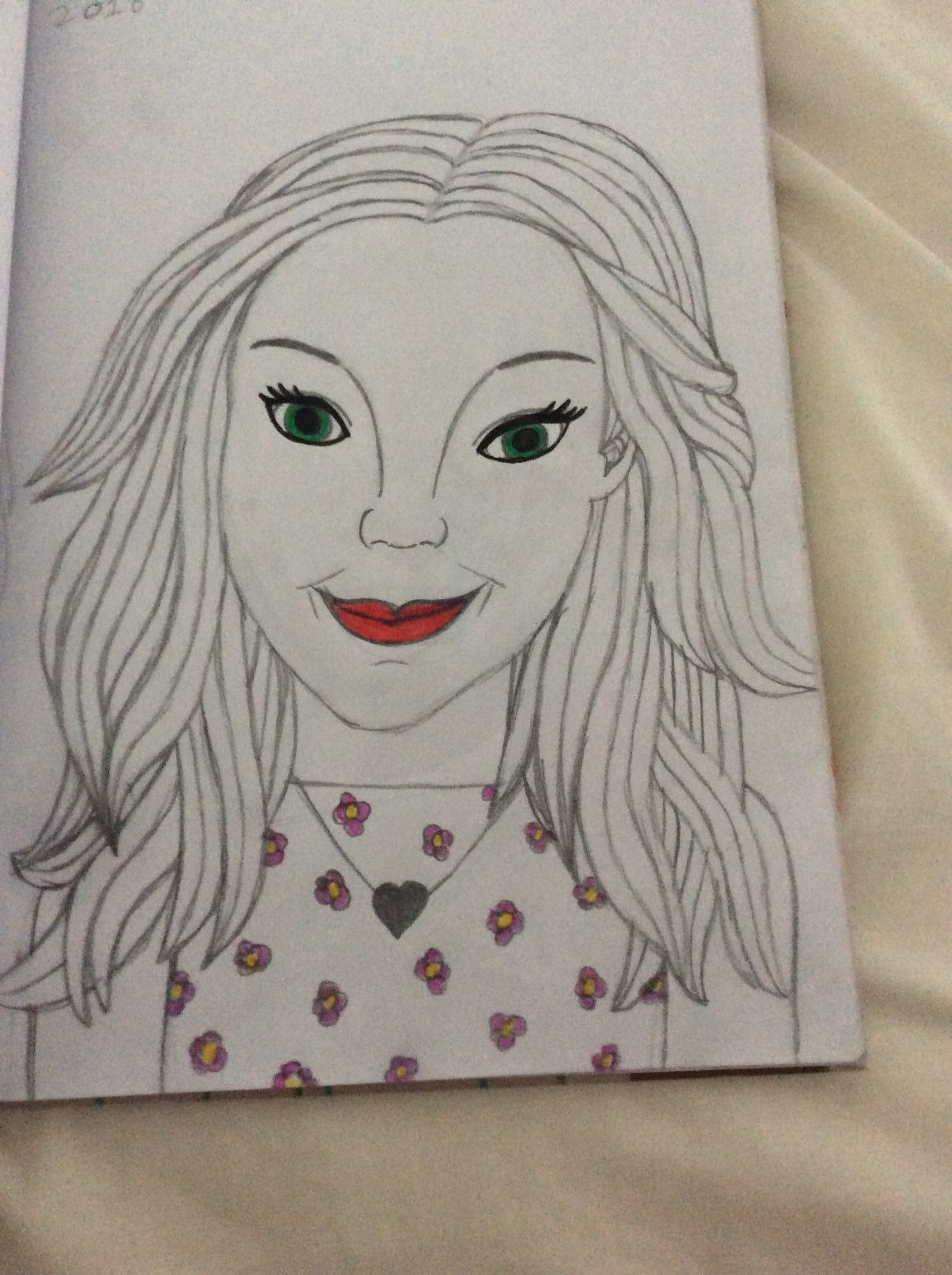 my most recent drawing of my idol dove Cameron