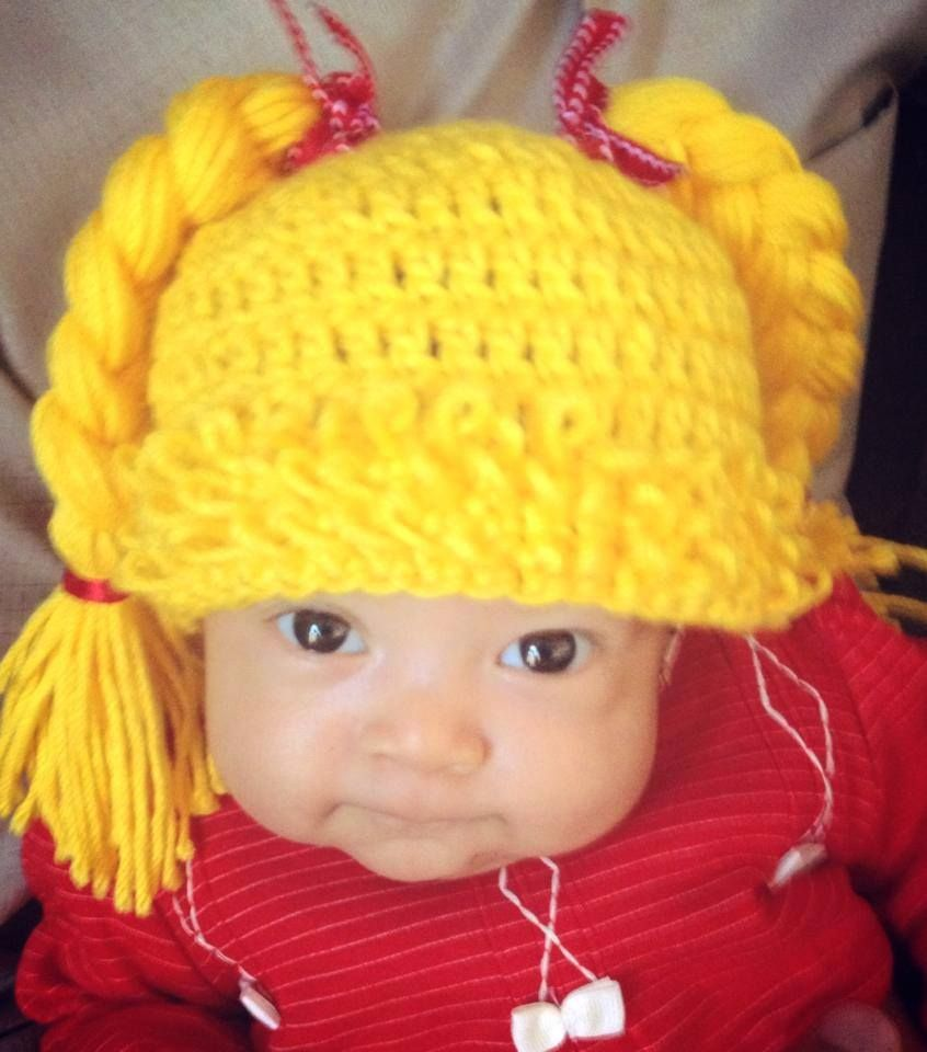 cabage patch trenzas güera gorro crochet   Anything Cabbage patch ...