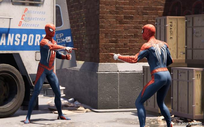 Spider-Man Pointing at Spider-Man now on PS4 | Meme, Luoghi