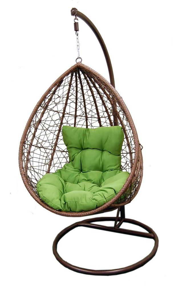 Egg Chair Swing With Stand Hammock Canada Outdoor Hanging Cushion Resin Wicker Comfy Durable Gelaier