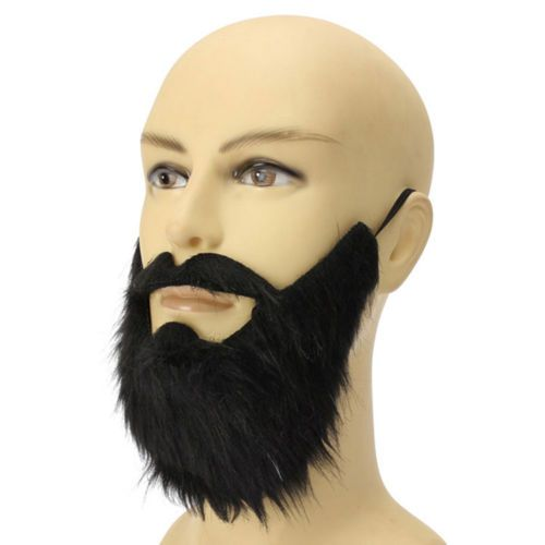 Man Dress Up Black Makeup Party Fake Beard Props Mustache Fancy Dress Costume