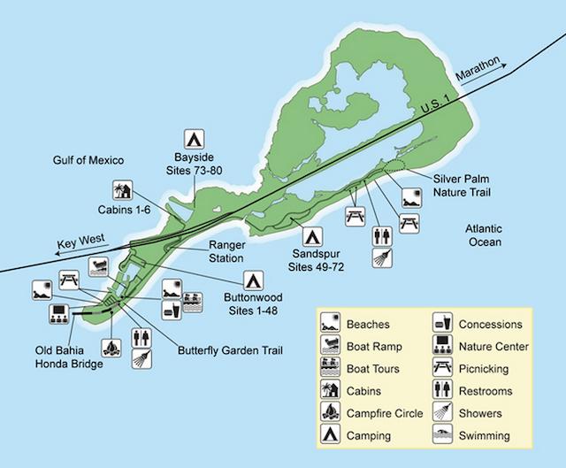 Bahia Honda State Park Map Today, we're exploring the infamous Bahia Honda State Park at mile  Bahia Honda State Park Map