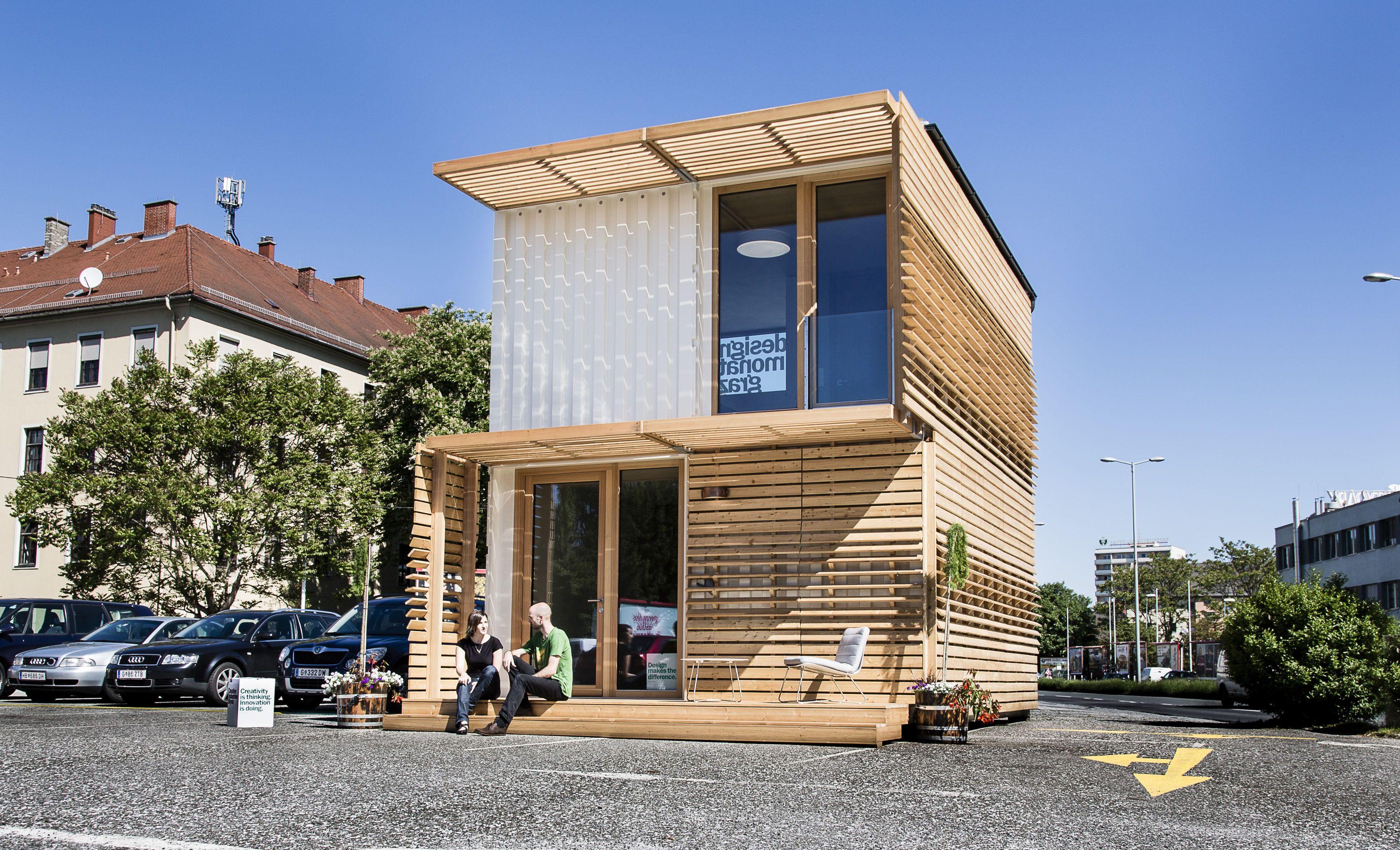 kostengünstig und flexibel wohnen im Öko-container | baustoffe ... - Container Architektur