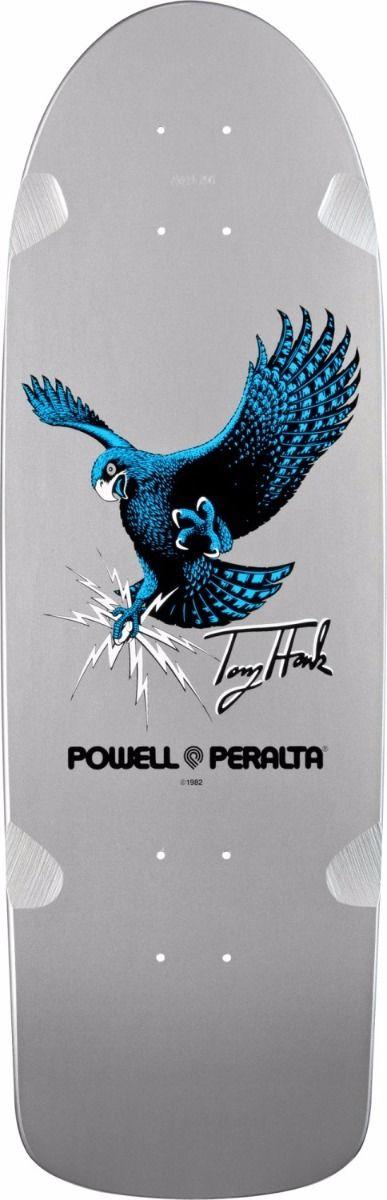Powell Peralta BONES BRIGADE Tony Hawk OG HAWK Skateboard SILVER DIP
