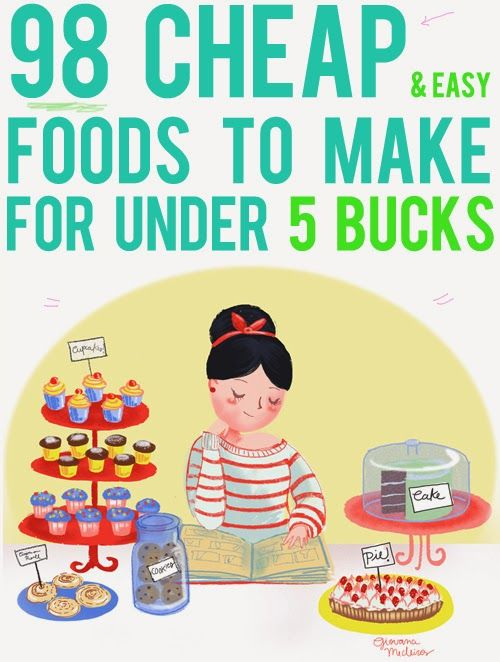 Diy Projects: 98 Cheap and Easy Foods to Make For Under 5 Bucks