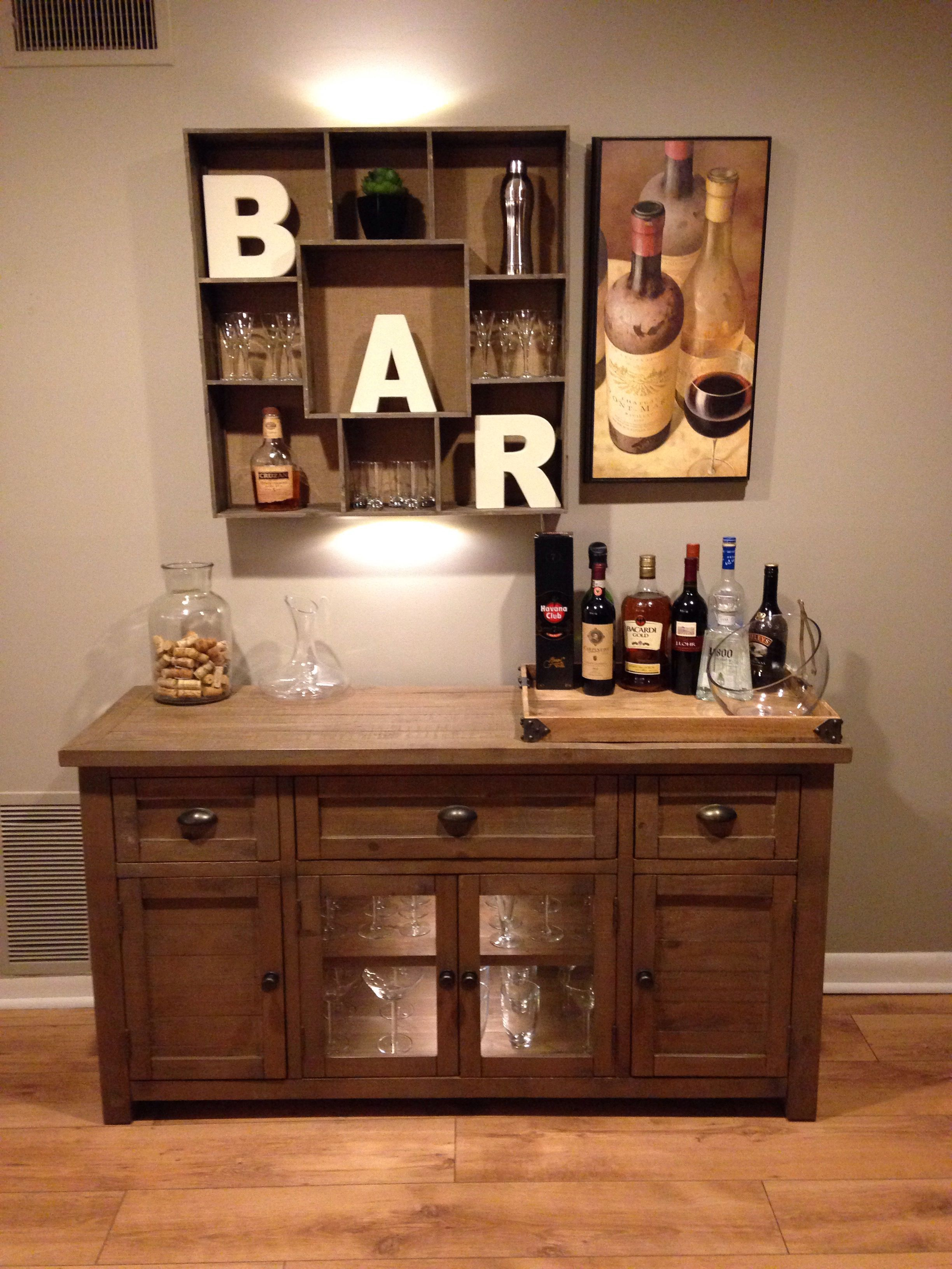 Looked around for a lot of bar options but we wanted to make it ...