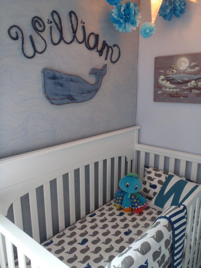 William S Whale Nursery Project Nursery Whale Nursery Baby Boy Whale Nursery Whale Baby Bedding