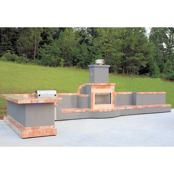 Signature Living L-Shaped Custom Outdoor Kitchen L-01