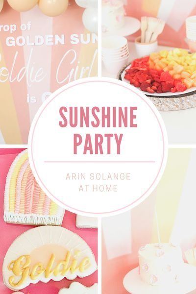 A sunshine birthday party for our sweet girls first birthday. Check out this pink and yellow Sunshine party here #firstbirthday #birthdayparty #birthday