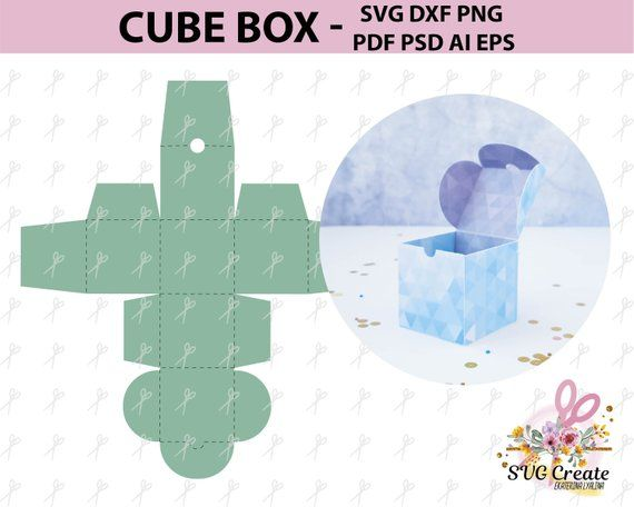 Cube Favor Box Template Pdf Favor Box Box Template Pdf Svg Png