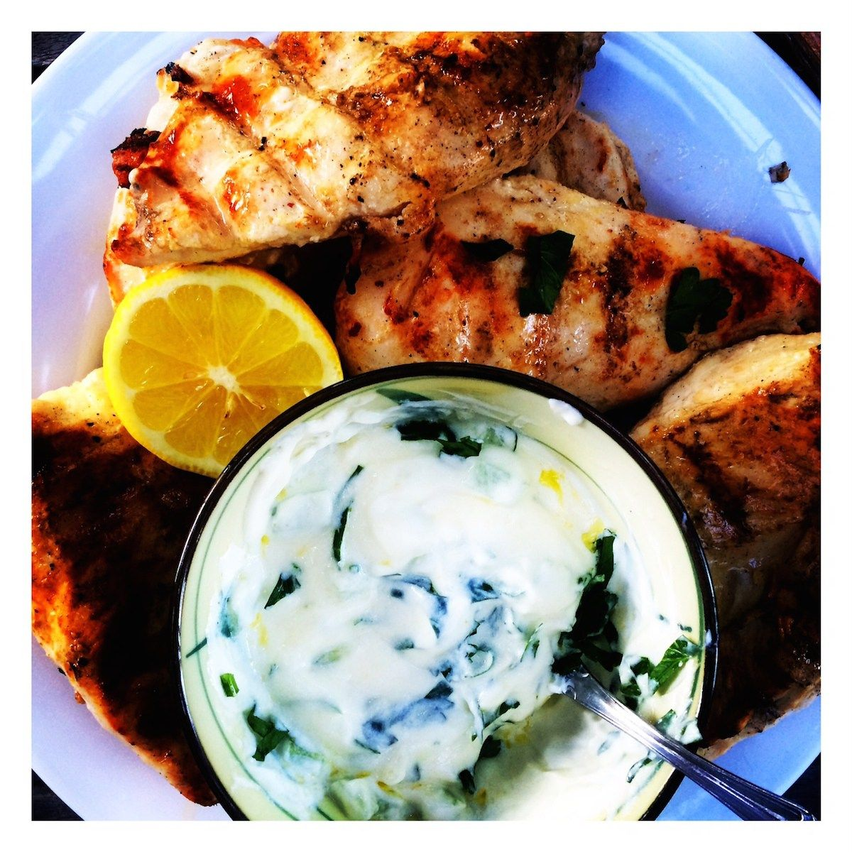 { lemon rosemary chicken }