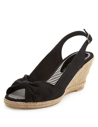 Front Knot Mid Heel Wedge Espadrilles with Insolia® | Sneaks