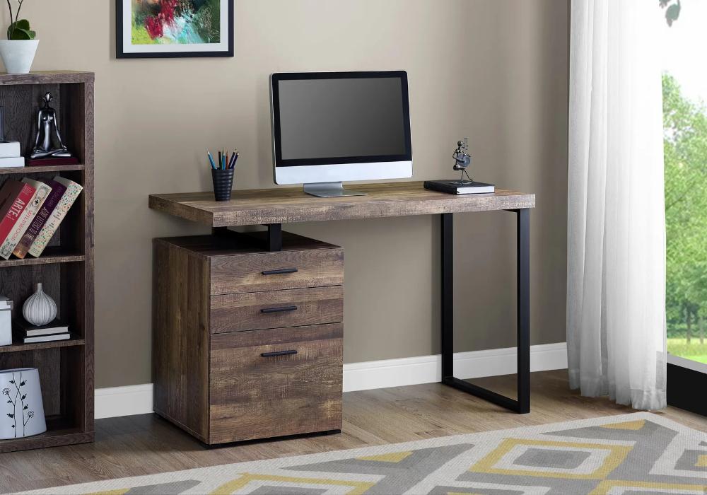 Jamal Reversible Credenza Desk In 2020 Small Office Desk File Cabinet Desk Computer Desk
