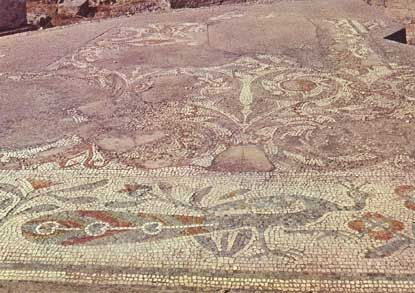 Mosaic, Canosa di Puglia, Italia.