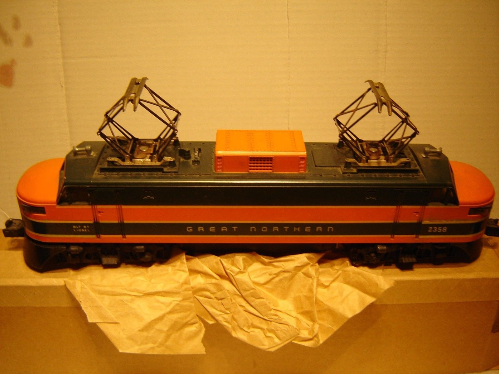 Ad lionel trains post war great northern electric
