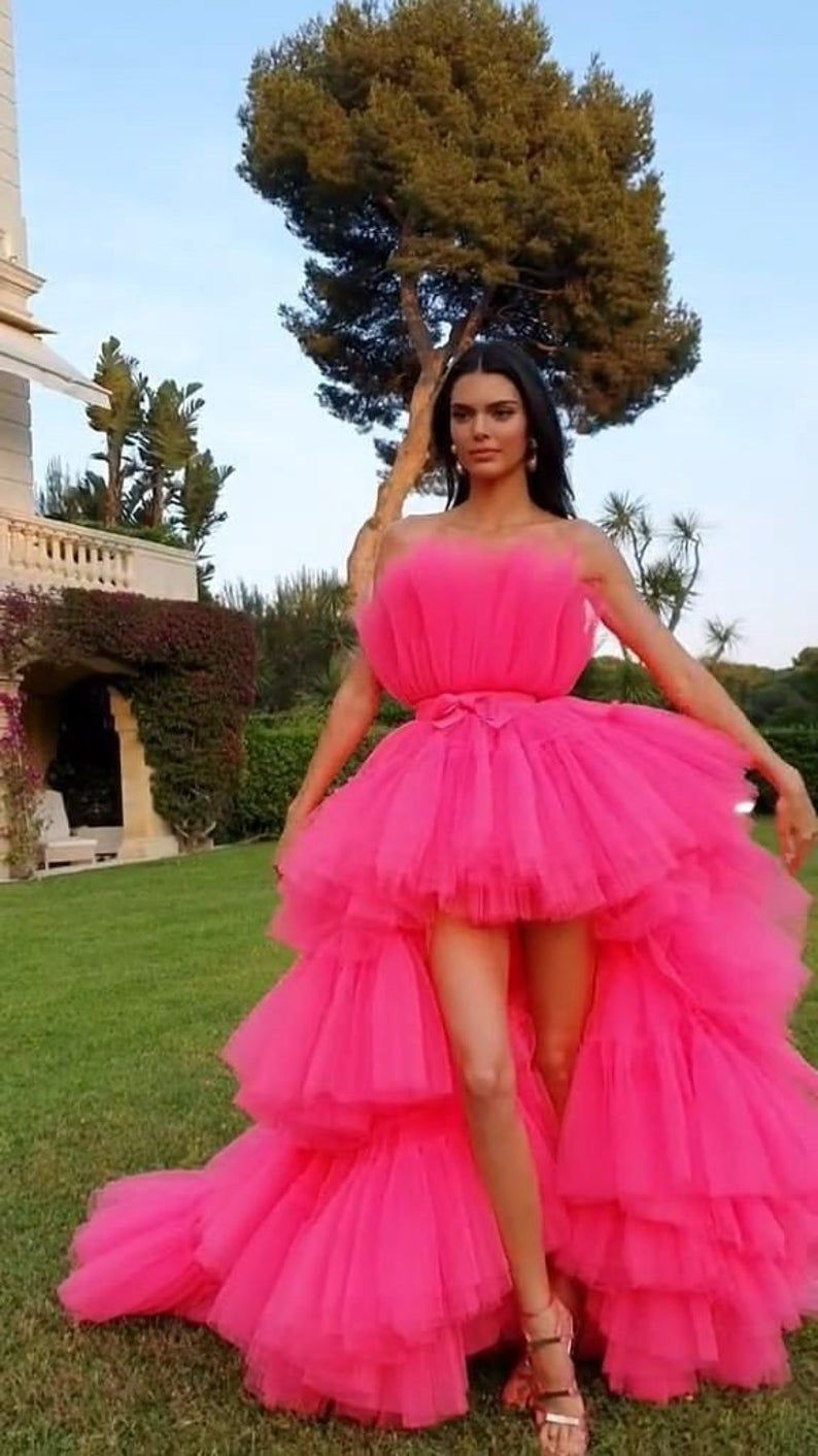 Tulle high low dress