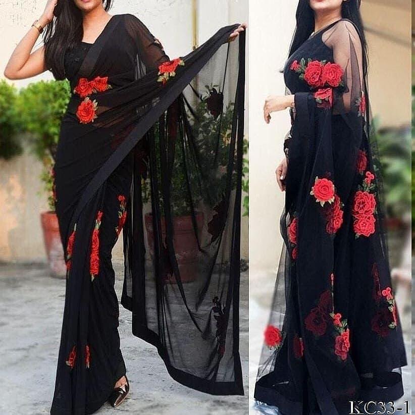 *black saree* DM TO ORDER