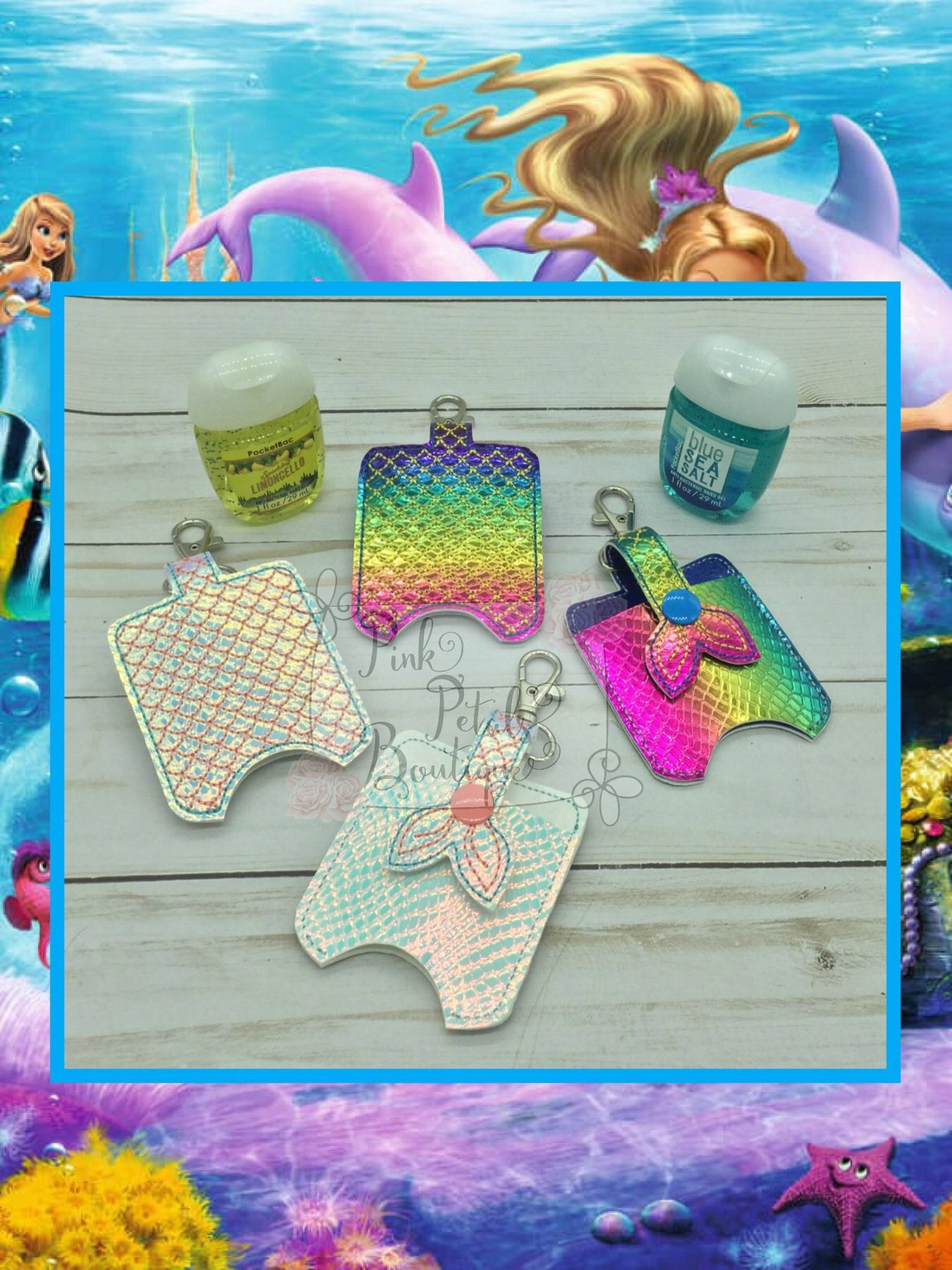 Mermaid Hand Sanitizer Holders Hand Sanitizer Holder Hand