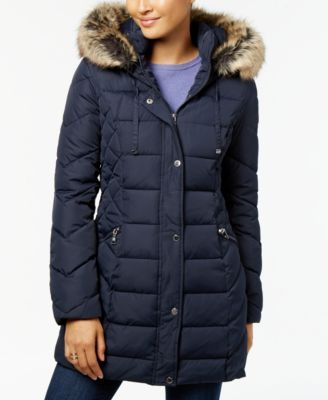 2105fccf5538 Laundry by Shelli Segal Quilted Faux-Fur-Trimmed Puffer Coat | macys.com