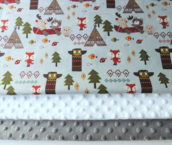 Baby Blanket  Made to Order  Forest Animal by charlottechicstore, $45.00