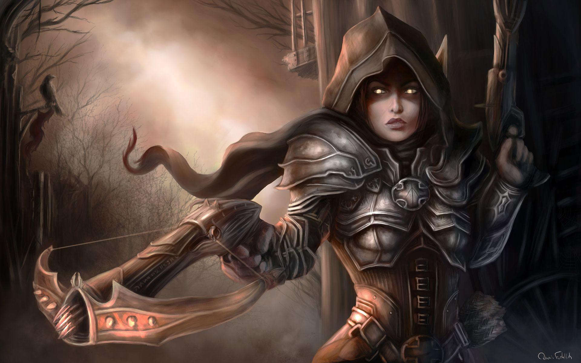 Demon Hunter Character Diablo Reaper Of Souls Wallpaper Demon
