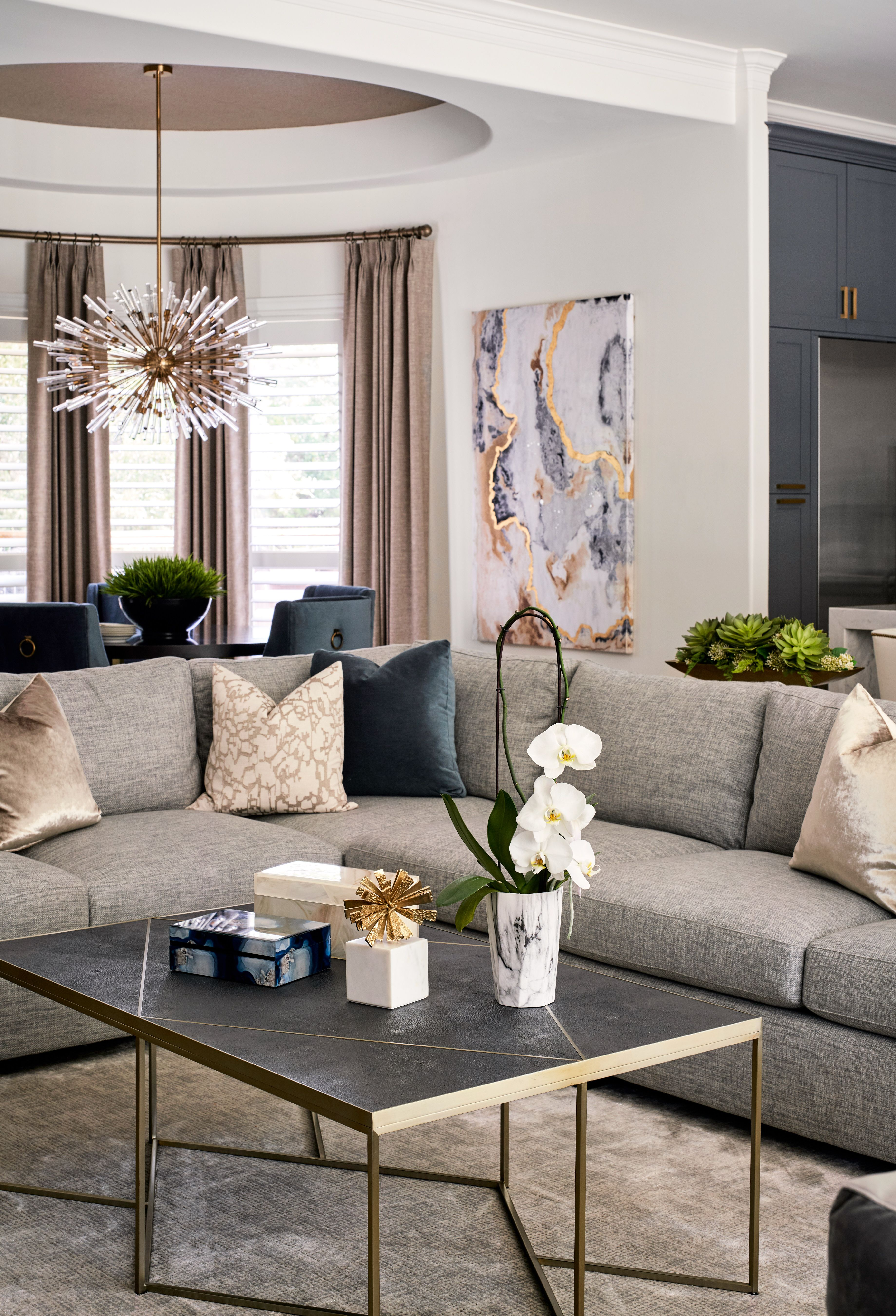 This Comfortable Living Room And Breakfast Area Are Part Of A